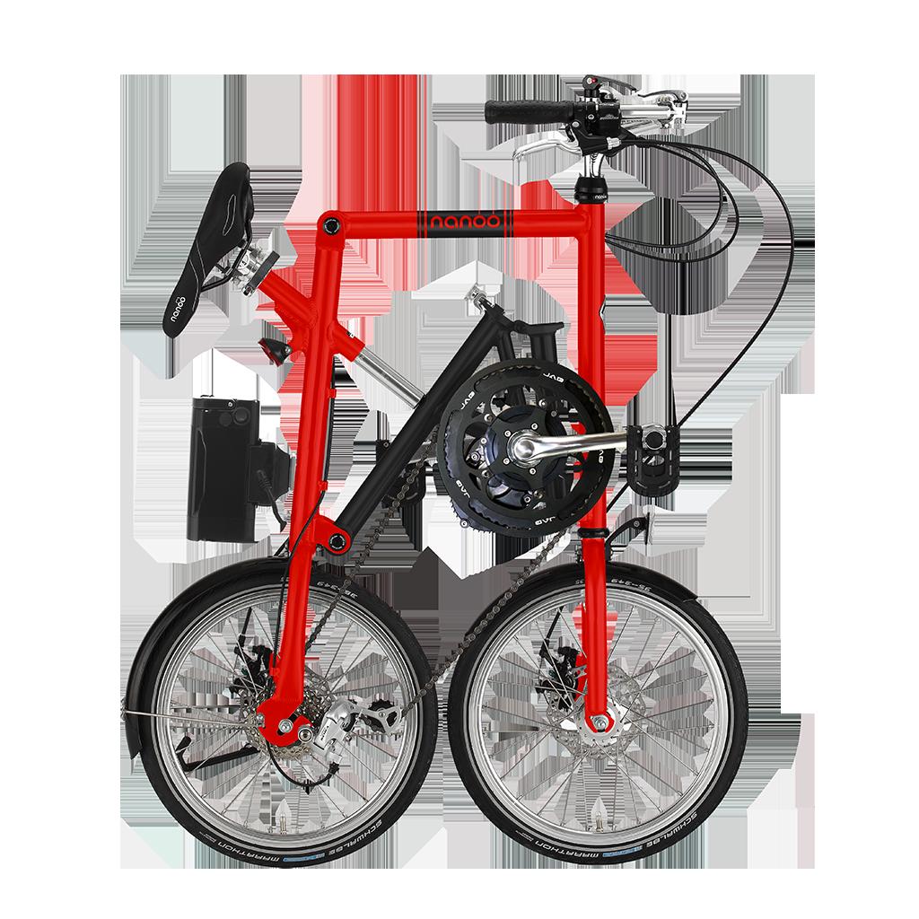 Bici elettrica 16 rossa